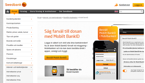 swedbank legitimation